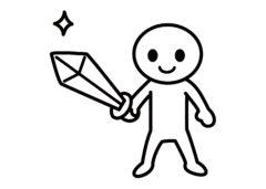 剣を持つ子ども