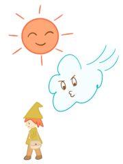 北風と太陽の太陽イラスト
