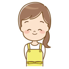 笑顔のエプロンママ