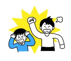 男の子を殴る男性(虐待)