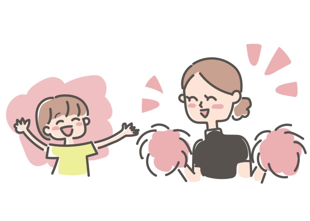 子どもを応援する母親