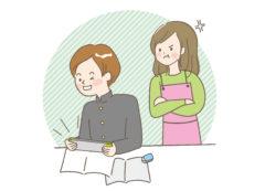 勉強のやる気を出さない中学生男子