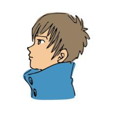 思春期男子の横顔