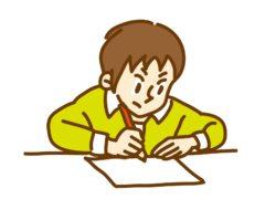 勉強をする男の子